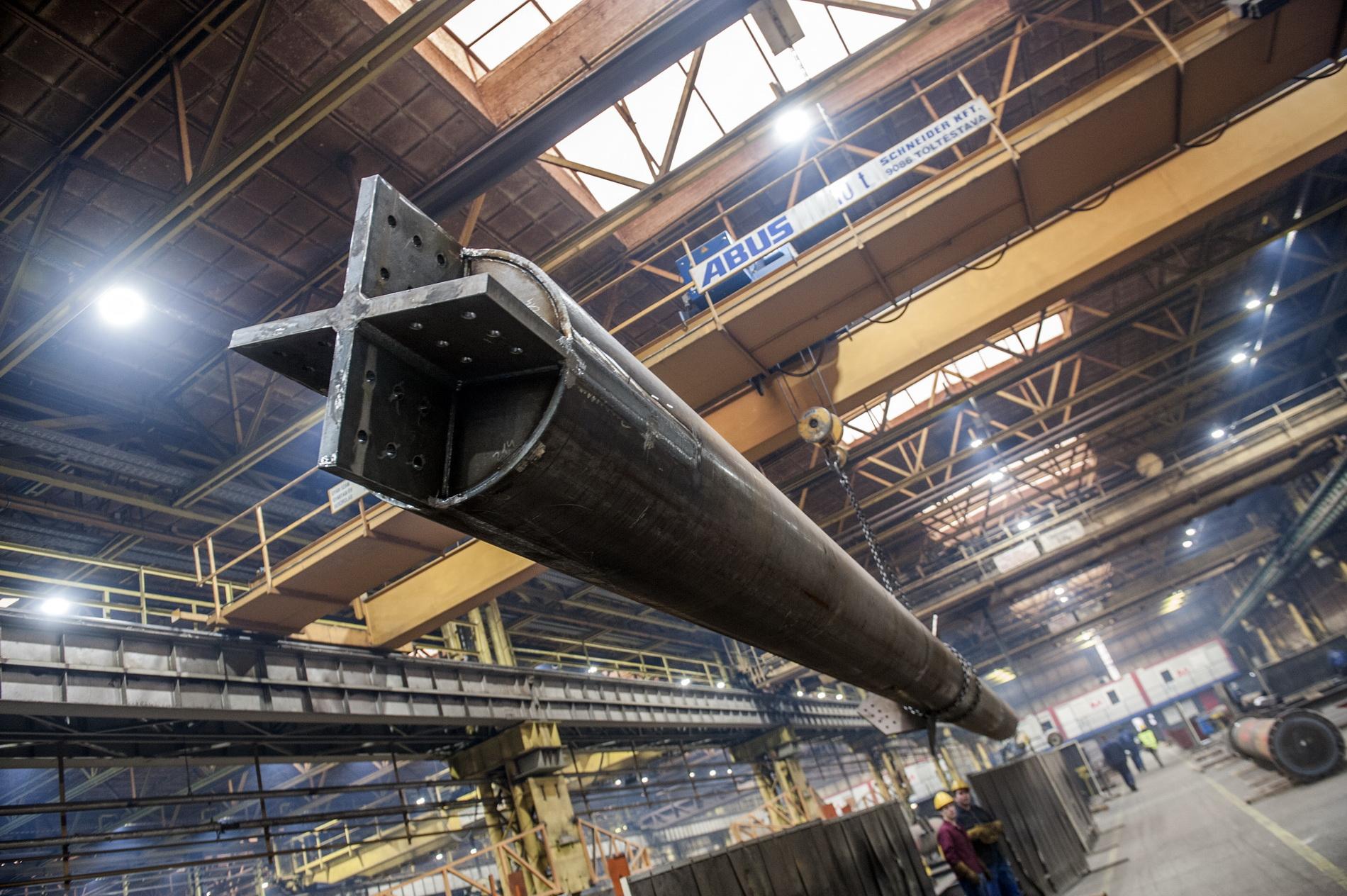 Egyedülálló acélszerkezetgyár Magyarországon